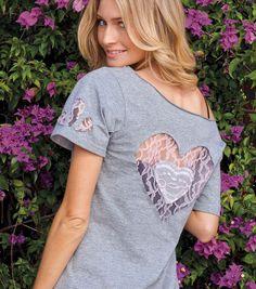 #DIY Lace Cut-Out T-Shirt