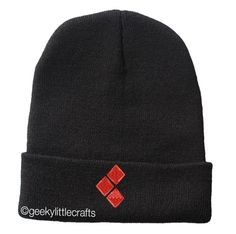Harley Quinn Beanie via Geeky Little Crafts. Click on the image to see more!