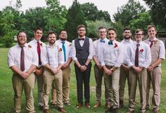 Groomsmen outfits