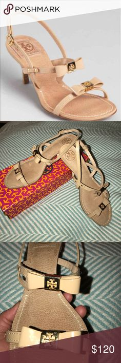 Tory Burch kiley Kitten mid heels In very good condition it was retail for $275. Extra gift 🎁 when purchased choose listed item 🎁🎁🎁 Tory Burch Shoes Heels