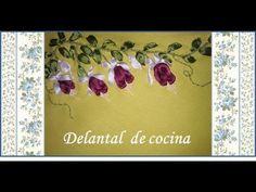 (1) ♥ Bordado en cinta ♥ Delantal de cocina ♥ - YouTube