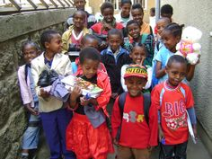 Everybody's here! Addis Ababa children supported by CIFA and IFSO sponsorship program