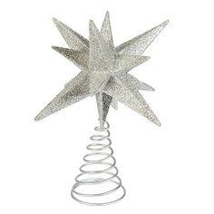 Suzanne Kasler Glittered Star Tree Topper
