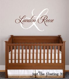 Monogram Name Vinyl Wall Art Initial And Name Vinyl By CanoDesigns - Monogram wall decal for nursery