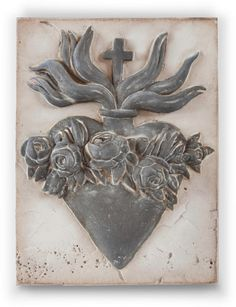 I ❤️THIS! Sid Dickens Handmade Wall Tile of The Sacred Heart; Compassion 2014 (Decor for my living room)