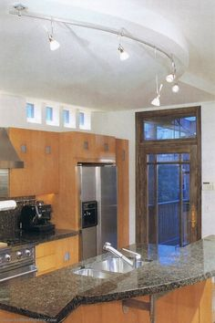 Kitchen track lighting   aero track heads   cone glass shade  frost white   This is what I need for my off center light in the kitchen  . Diy Kitchen Track Lighting. Home Design Ideas