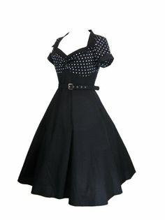 Amazon.com: Skelapparel Plus Size Vintage Retro Design Polka Dot Flare Party Dress: Clothing