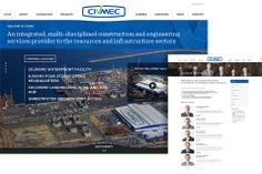 Screenshots of the Civmec website