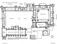 Peles castle floor plan 3rd floor architectural floor plans plan 1 the college of st mary at eton british history online malvernweather Choice Image