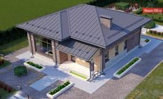 3d House Plans, Small Farm, Sweet Home, Cottage, How To Plan, Outdoor Decor, Home Decor, Bonito, Decoration Home