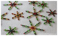 Easy beaded Christmas Stars/snowflakes
