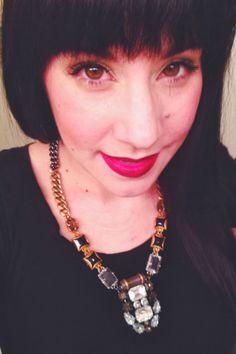 Dark and Mysterious   Blushing Blog makeup tutorial for wearing dark lip color  blushingmua.blogspot.com