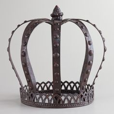 Fit for royalty, our Large Metal King Crown brings a majestic look to your home's decorations. You'll love the way this piece makes a stunning accent when placed on a shelf or a tabletop.