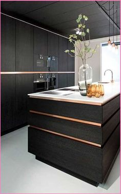34 Modern and Classic Wooden Kitchen Design Ideas Picture No 2 - Luxury Kitchen Remodel Luxury Kitchen Design, Contemporary Kitchen Design, Best Kitchen Designs, Luxury Kitchens, Cool Kitchens, Wooden Kitchen, Rustic Kitchen, New Kitchen, Kitchen Decor