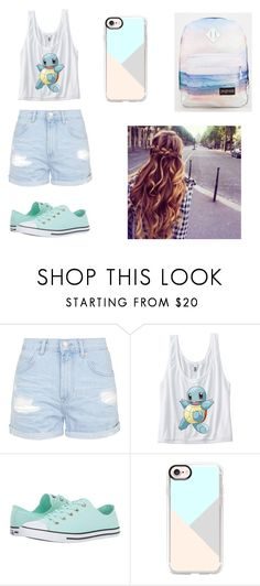 """""""UNTITLED"""" by brionneywilliamson ❤ liked on Polyvore featuring Topshop, Converse, Casetify and JanSport"""