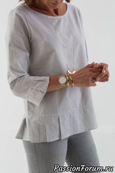 40 Ideas for sewing blouse mens shirt refashion - Men's style, accessories, mens fashion trends 2020 Umgestaltete Shirts, Dress Patterns, Sewing Patterns, Sewing Blouses, Women's Blouses, Linen Dresses, Diy Fashion, Latest Fashion, Fashion Trends