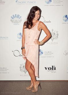 Jillian Harris at the Chris 4 Life Colon Cancer Foundation LA Dream Date event <3 love this dress!!!!