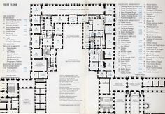 Palace of Versailles Floor Plan | Plan of Palace of Versailles piano nobile,