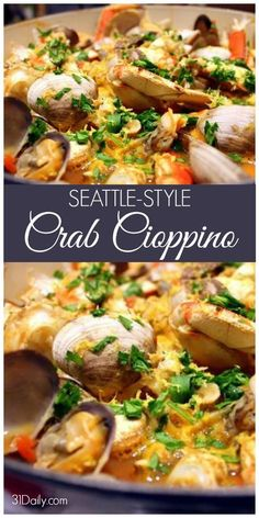 Style Cioppino Seattle Style Cioppino Cioppino Is A Fisherman Stew Well Known In The Pacific Northwest And With Crabbing Season Underway A Timely Seasonal Meal It S Regional It S Delicious And Incredibly Easy To Make Seattle Style Cioppino Recipe Com Shellfish Recipes, Seafood Recipes, Soup Recipes, Cooking Recipes, Healthy Recipes, Delicious Recipes, Bread Recipes, Cooking Tips, Easy Recipes