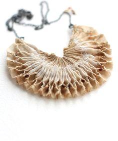 smocked necklace, silk - tinctory