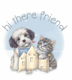 Hi there friend cute animated hugs hello friend gif hi comment good morning good day greeting beautiful day Friends Gif, I Love My Friends, Dog Friends, Puppies Gif, Havanese Puppies, Good Day Images, Hello In Spanish, Birthday Card Sayings, Online Friends