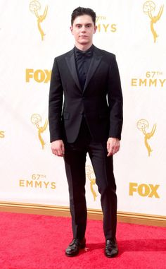 Evan Peters at the 67th Annual Primetime Emmy Awards at Microsoft Theater on September 20, 2015 in Los Angeles, California.