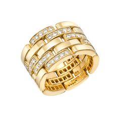 f115245dbd3 Estate Cartier Panthére 18k Gold   Pavé Diamond Band