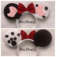 101 Dalmatians inspired Minnie Mouse ears headband. These ears were a  custom request out of my Etsy shop, EarzbyBecDeazz.
