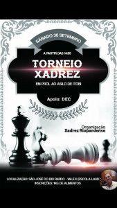 Torneio de Xadrez, beneficente ao Asilo de Itobi será realizado dia 30-09-2017, na escola Laudelina  Difusora AM  Com apoio do Dec (Departamento de Esportes e Cultura) da Prefeitura Municipal, um Torneio de Xadrez, de caráter beneficente ao Asilo de Itobi