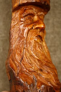 A tree spirit special wood carving birthday by TreeWizWoodCarvings