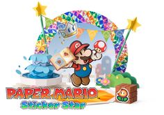 Rendered artwork of characters, enemies, scenes and stickers from Paper Mario Sticker star on the Nintendo Mario 3ds, Mario And Luigi, Paper Mario Sticker Star, Paper Mario Games, New Super Mario Bros, Widescreen Wallpaper, Box Art, Art Lessons, Paper Art