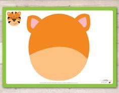 Free Tiger Playdough mat from our set of Jungle Animals Playdough Mats