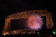 Fireworks, Over Lake Superior.