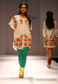 Tanvi Kedia's flowered tunic.