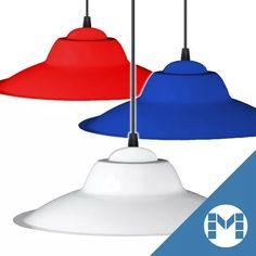 lampara colgante china chapa 32cm roja/azul/verde/blanca