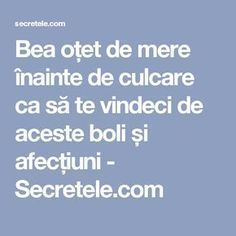 Bea oțet de mere înainte de culcare ca să te vindeci de aceste boli și afecțiuni - Secretele.com Herbal Remedies, Natural Remedies, Alter, Good To Know, Healthy Life, Anti Aging, Herbalism, Food And Drink, Health Fitness