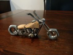 Industrial Motorcycle Sculpture by SouthPawSculptures on Etsy