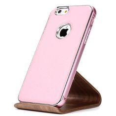Original XoomZ® Metal Litchi Series Aluminium Bumper mit Rückseite Alu Tasche für das Apple iPhone 6 / 6S Case Schutz Hülle Cover Rosa 22,90€