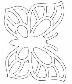 Drawings To Trace, Easy Drawings, Origami Butterfly, Butterfly Template, Diy Arts And Crafts, Paper Crafts, 8th Grade Art, Laser Art, Beadwork Designs