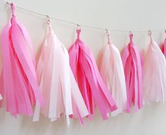 Shades of Pink Tissue Tassel Garland - One Stylish Party
