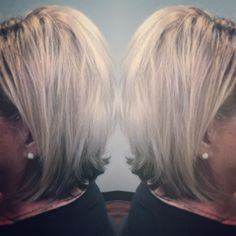 "Retouched blonde followed by a stand alone olaplex treatment...and a cut ( over 7"" cut off) looks fabulous!!!"