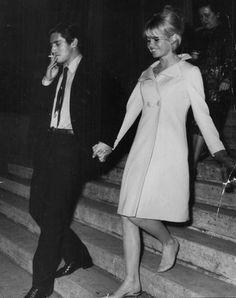 Brigitte Bardot and Sami Frey , 1960s