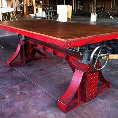 Bronx Crank Table | Vintage Industrial Furniture