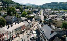 Brecon town.