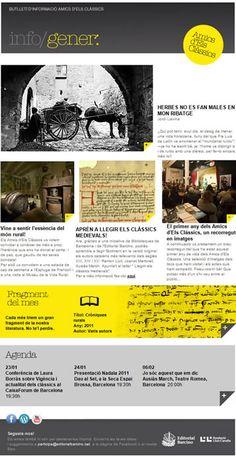 Newsletter dels Amics d'Els Clàssics