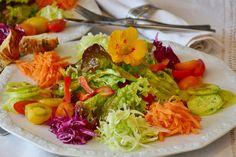Salat, Salatplatte, Salatteller, Teller, Besteck