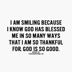 Thank you so much, God.