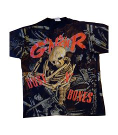 "vintage tshirt GuNS N RoSES DuST N BoNES 1992 rock punk LARGE skull all over print by VintageTrafficUSA 100.00 USD ONE AUTHENTIC VINTAGE TSHIRT! Vintage shirt with Large Wild Oats tag Excellent condition! Brockum 1992 date on shirt! Extremely awesome! Measures: 22"" armpit to armpit 27"" collar to bottom -------------------------------------------- SECOND ITEM SHIPS FREE IN USA!!! LOW SHIPPING OUTSIDE USA!! VISIT MY STORE FOR MORE ITEMS!!! http://ift.tt/1PTGYrG OR FOR MORE TSHIRTS…"