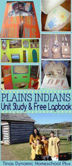 Free Plains Indian Unit Study and Lapbook @ Tina's Dynamic Homeschool Plus