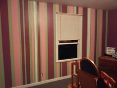 Stripe painted wall
